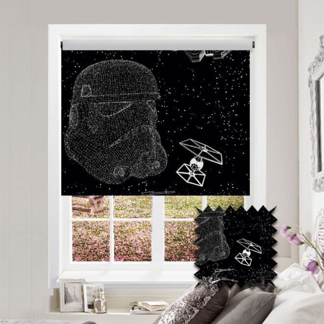 Premium Roller in Disney Star Wars™ Patterned Fabric - Just Blinds